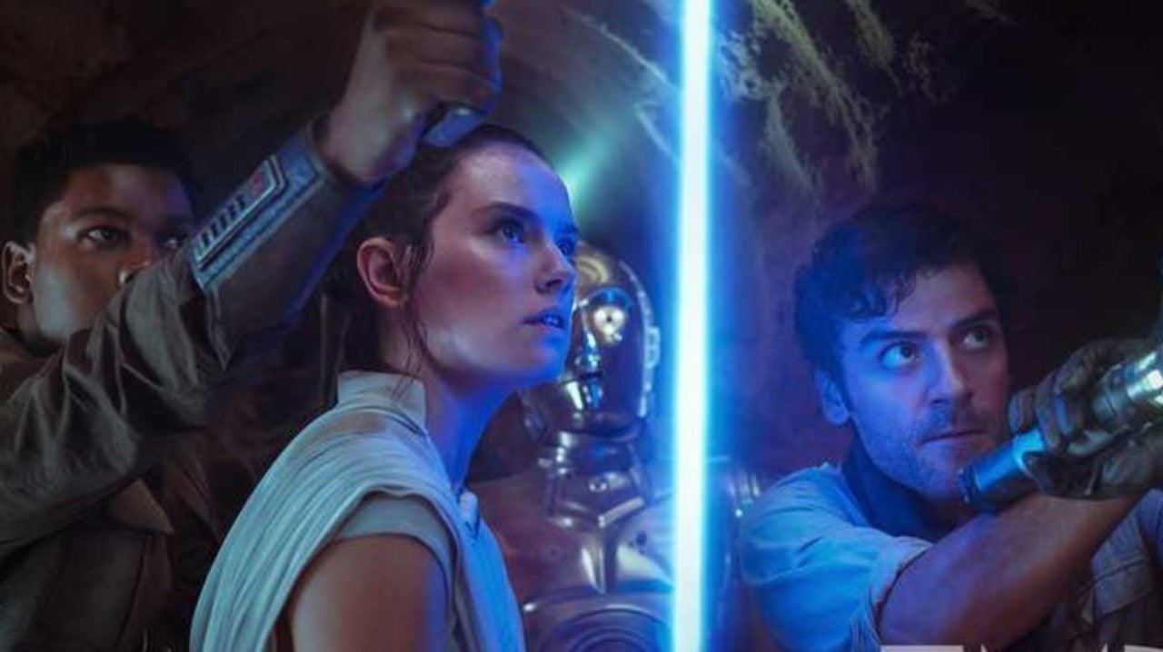 Star Wars The Rise Of Skywalker Photo Unites Rey Finn And Poe