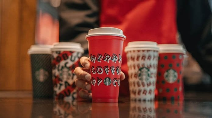 starbucks reusable holiday red cup 2019