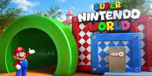 New Look at Super Nintendo World Under Construction Surfaces Online