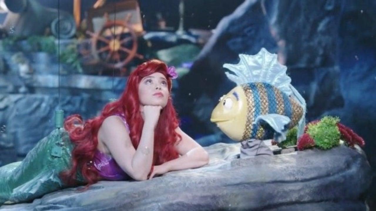 Image result for flounder little mermaid live costume