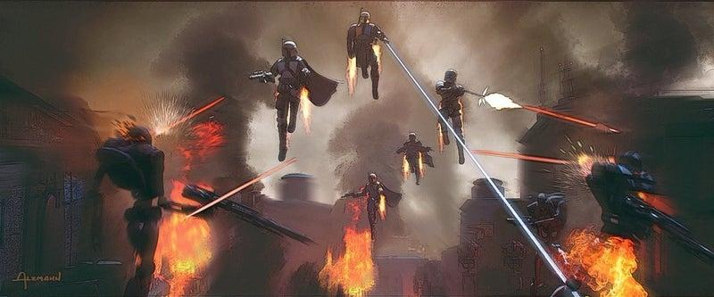 【星戰宇宙相關】《曼達洛人》S1E3 藝術圖釋出:突破敵人包圍的壯觀場面(有雷)