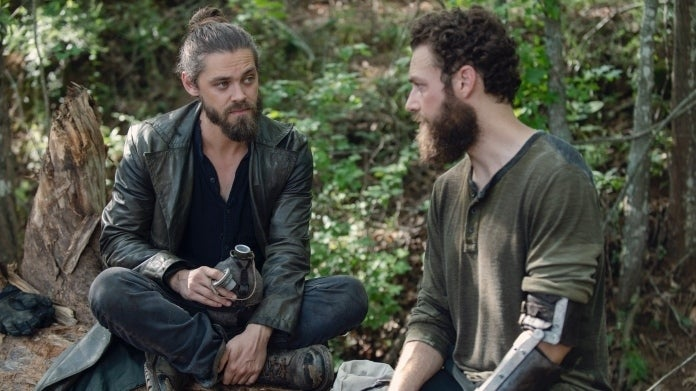 The Walking Dead Aaron Jesus Ross Marquand Tom Payne