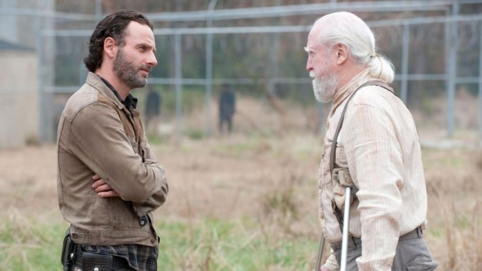 The Walking Dead Andrew Lincoln Scott Wilson Rick Hershel
