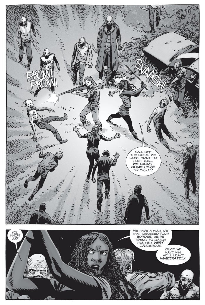 The Walking Dead comics Michonne Aaron