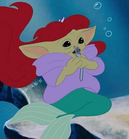 Baby-Yoda-Little-Mermaid