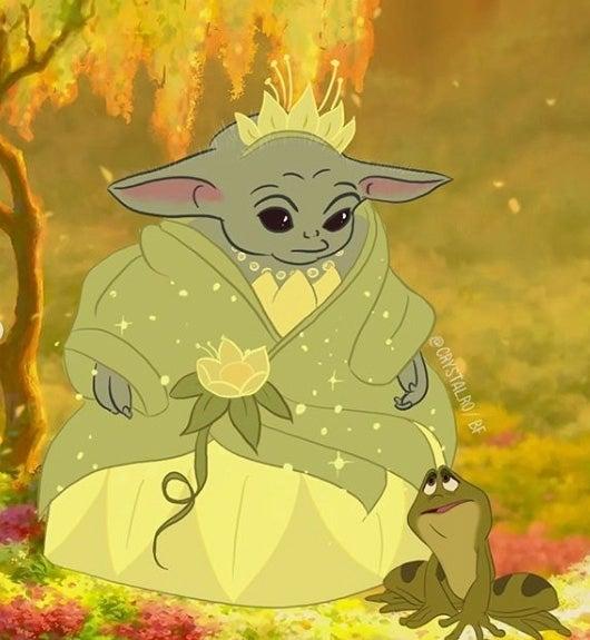 Baby-Yoda-Princess-and-the-Frog
