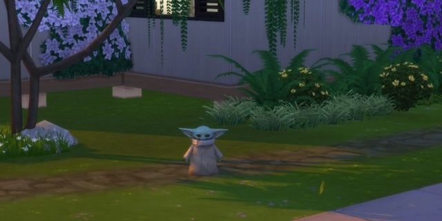 Baby Yoda Officially Arrives in The Sims 4