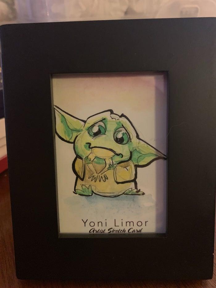 baby yoda yoni limor art