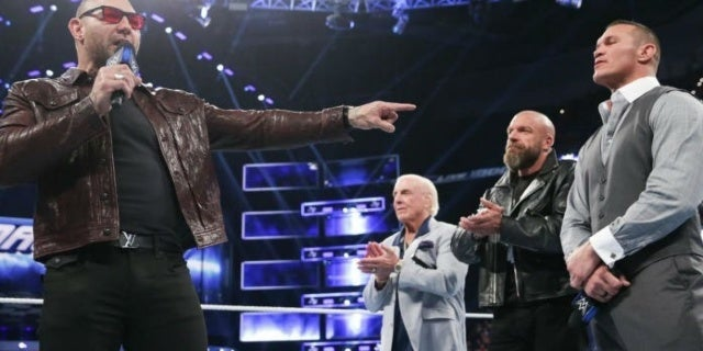 Evolution Congratulates Batista on His WWE Hall of Fame Induction