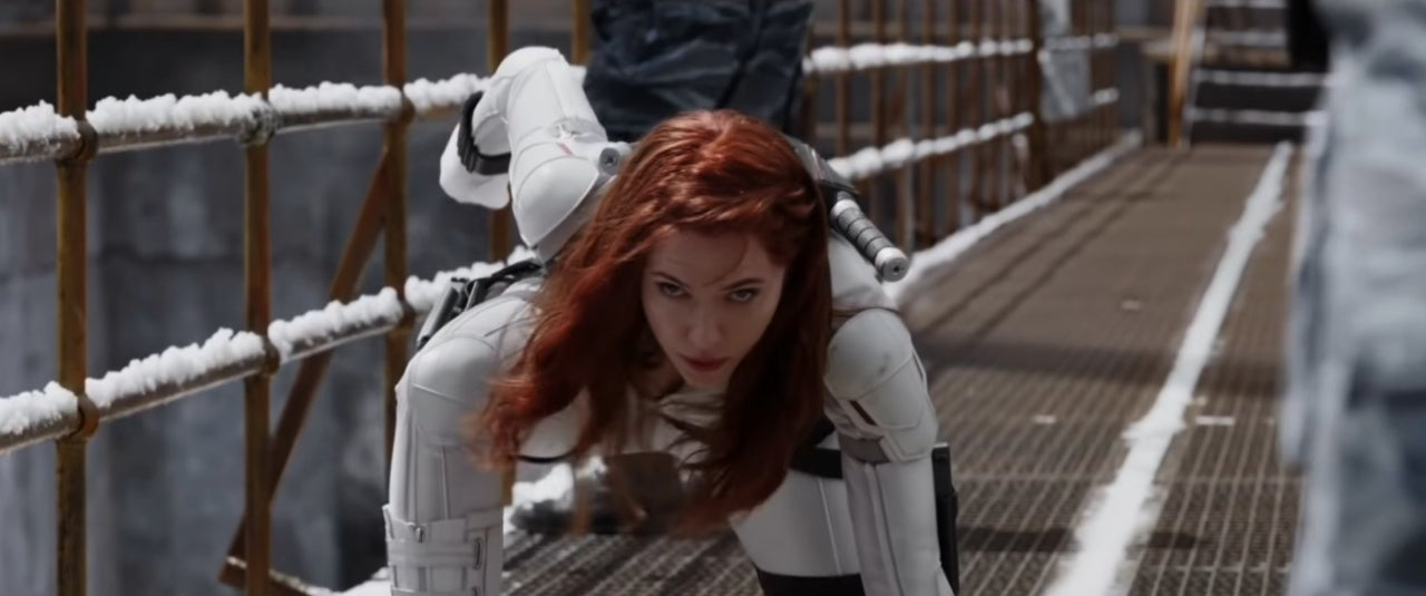 black widow white suit