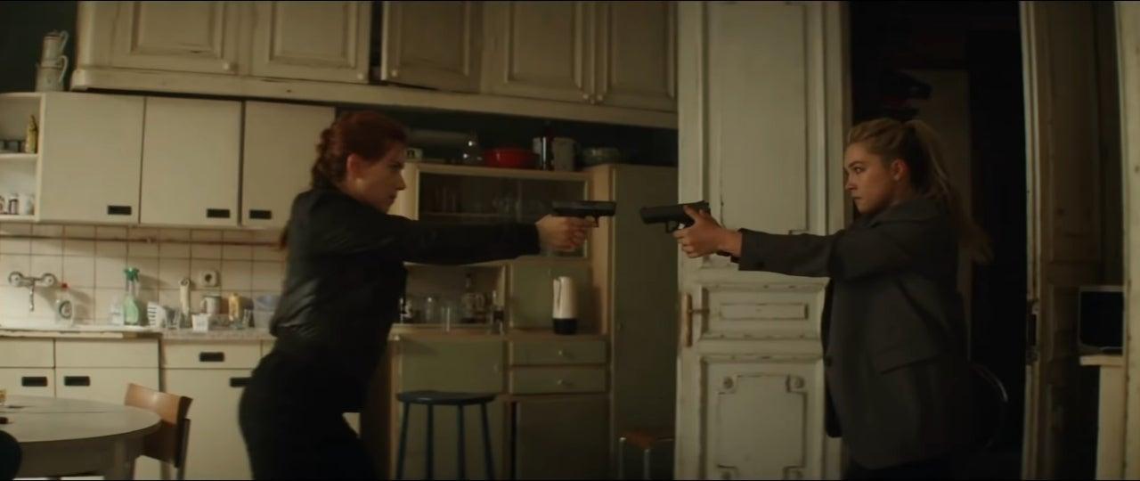 black widow yelena belova gunfight