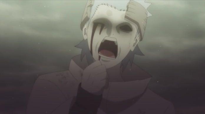 Boruto Episode 135 Urashiki Otsutsuki Form Transformation Eye Eating Scene