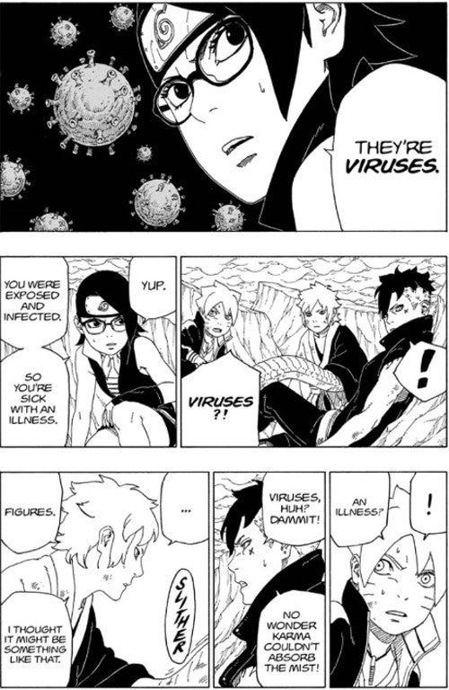 Boruto Manga 41 Boro Black Mist Jutsu Explained Virus