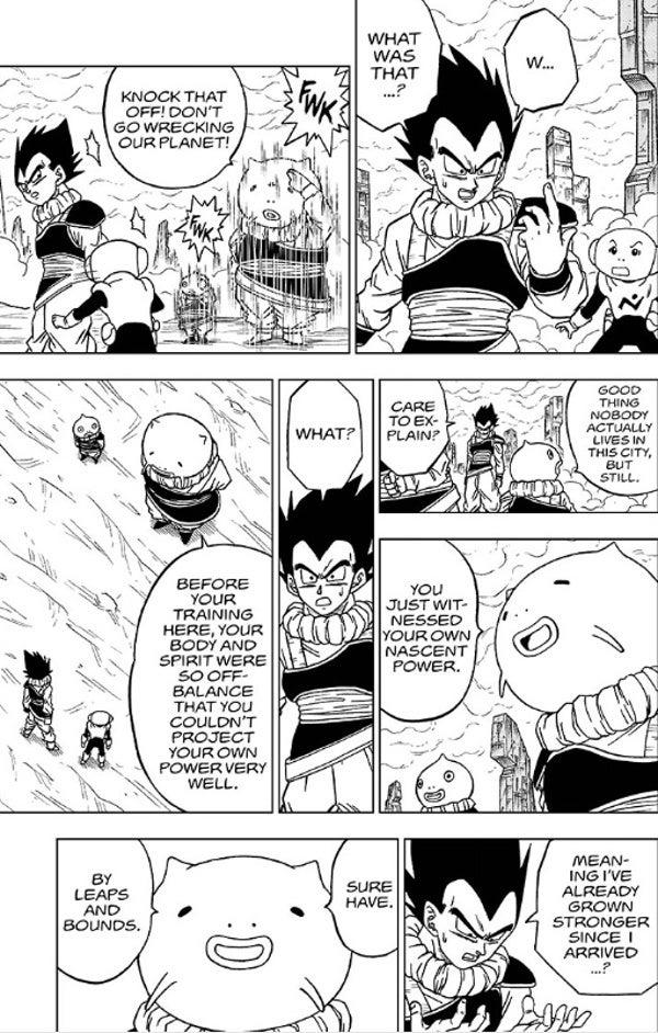 Dragon Ball Super Manga 55 Vegeta New Latent Power Levels