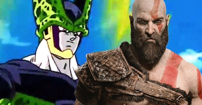 god of war cell dragon ball