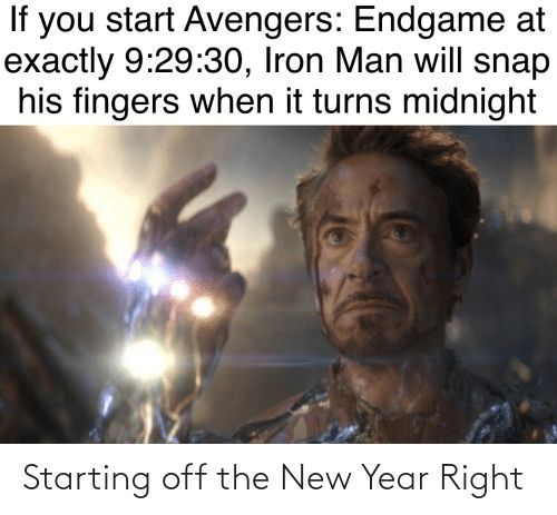 How To Sync New Years 2020 with Avengers Endgame Iron Man Snap