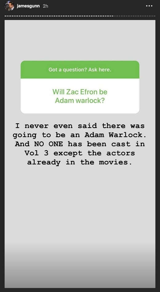 james gunn adam warlock guardians 3