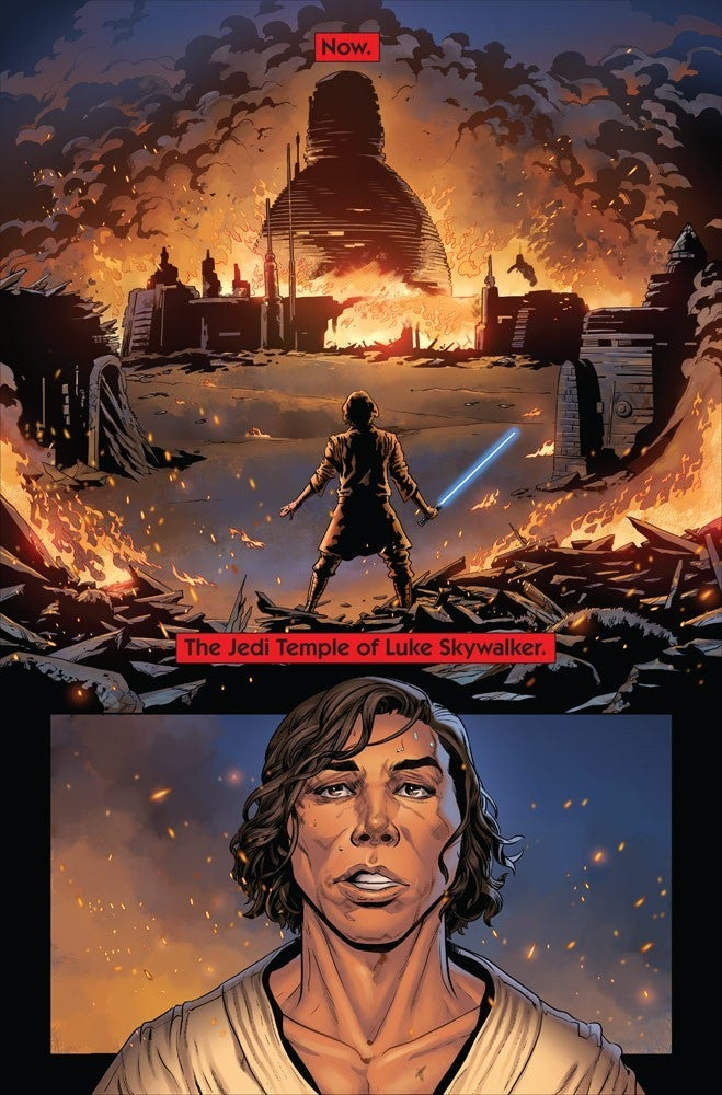 Marvel Star Wars The Rise of Kylo Ren Jedi Temple Falls Burning