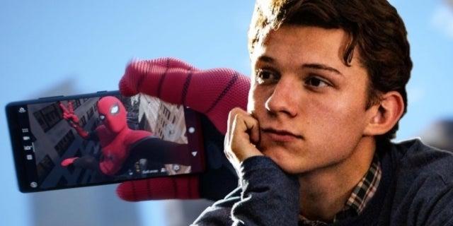 MCU Spider-Man phone Tom Holland comicbookcom