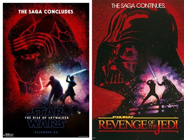 Latest Star Wars The Rise Of Skywalker Poster Pays Tribute To Revenge Of The Jedi