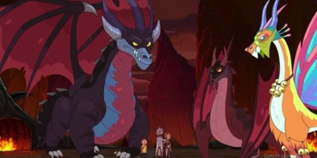 Rick and Morty Dragon Orgy Episode Liam Cunningham Matthew Broderick