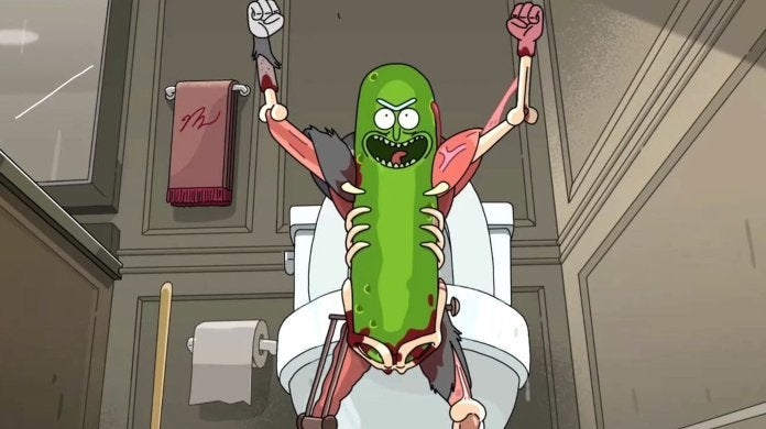 Rick and Morty Pickle Rick Adult Swim