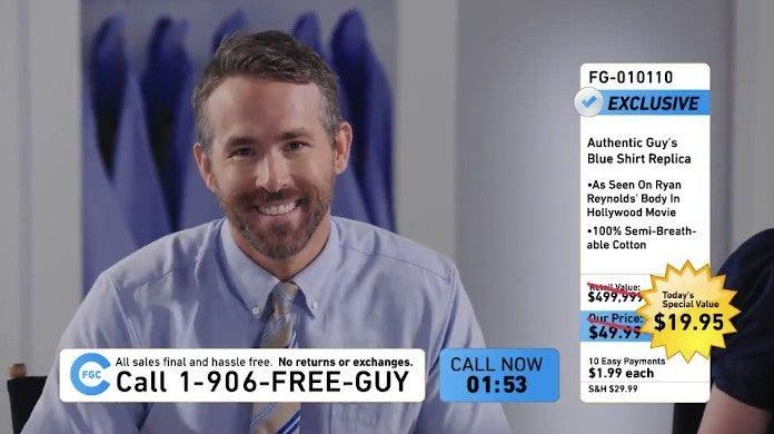 Ryan Reynolds Free Guy Movie Teaser Merchandise Disney