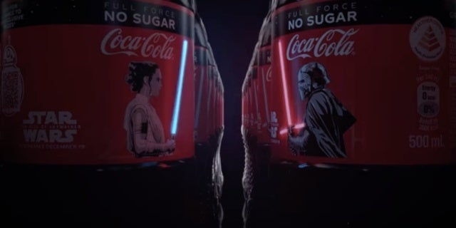 These Coca-Cola Star Wars Bottles Actually Light Up on the Label