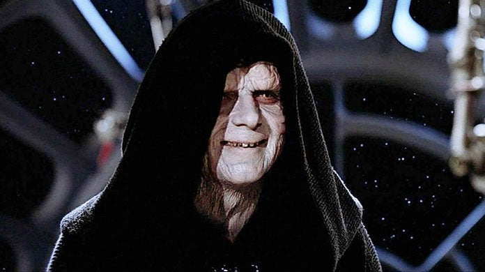 smiling emperor palpatine empire star wars