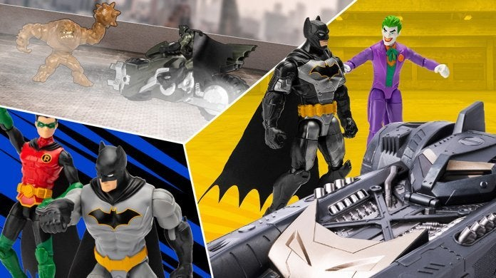 """NEW IN STOCK DC SPINMASTER THE CAPED CRUSADER 4/"""" BATMAN GRAY SUIT 1ST EDITION"""