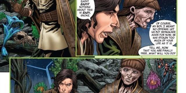 Star Wars Rise Kylo Ren Luke vs Snoke Fight Refrence