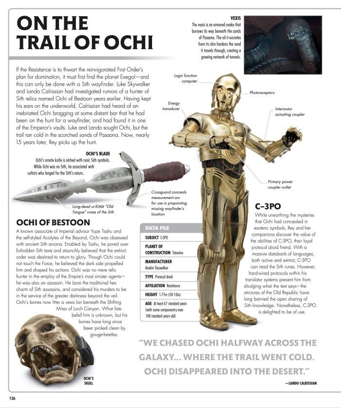 Star Wars Rise of Skywalker Visual Book - Ochi of Bestoon