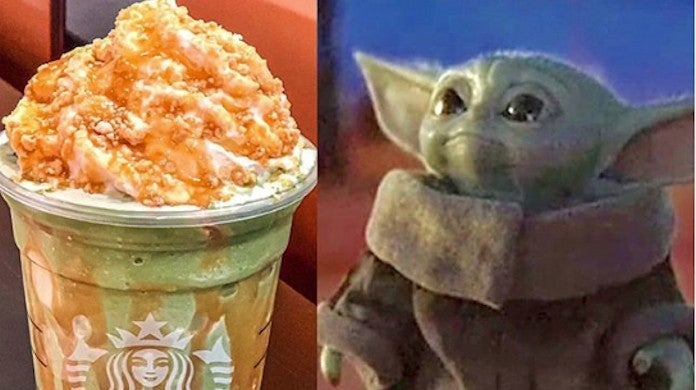 Starbucks Star Wars Baby Yoda Frappucino How to Order