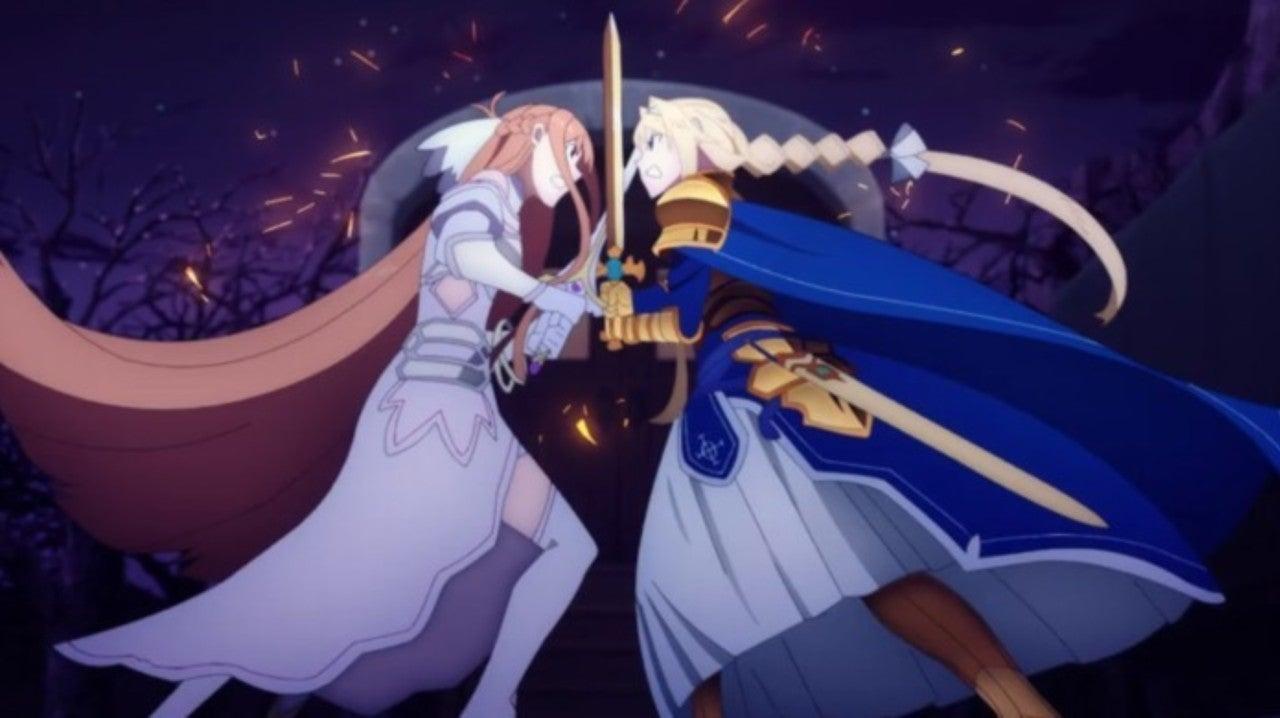 Sword Art Online Shows Off Asuna V Alice Fight