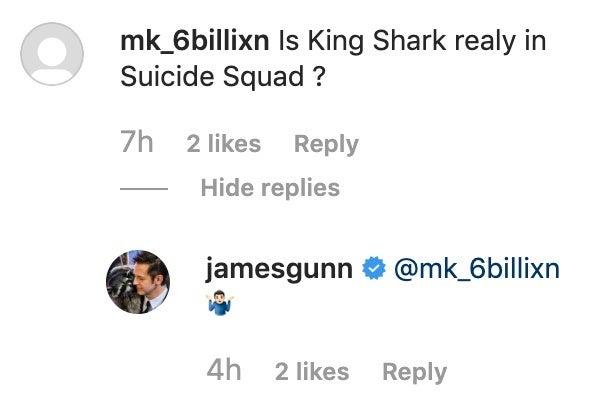 the suicide squad instagram king shark