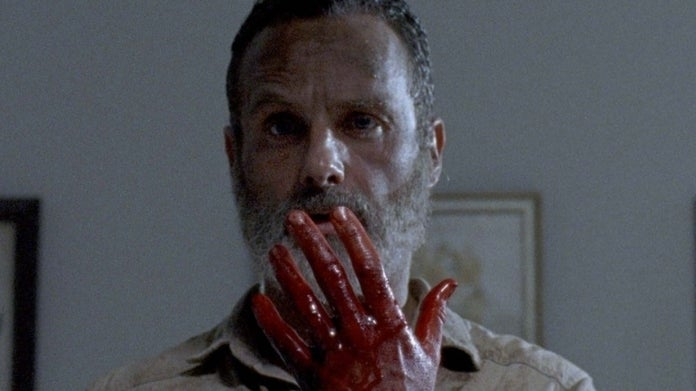 The Walking Dead Andrew Lincoln Rick Grimes hand