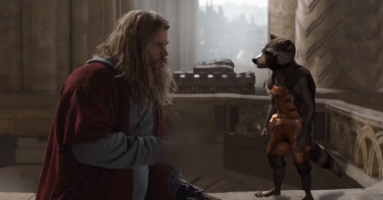 Avengers: Endgame Cut a Funny Rocket Raccoon and Thor Line