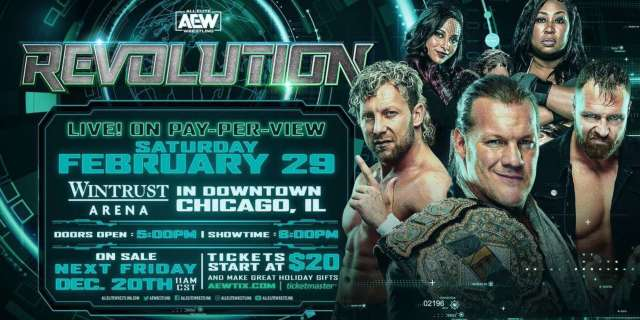 AEW Revolution Announced For February 29th In Chicago