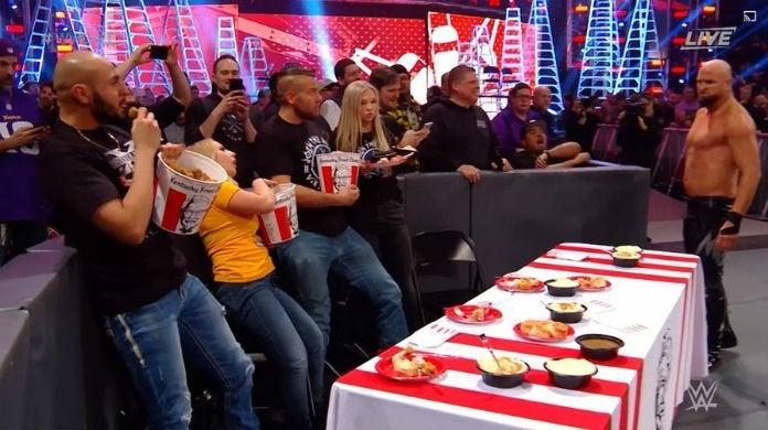 WWE-TLC-KFC-Chicken-Table