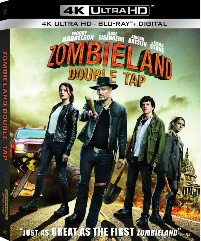 zombieland double tap 4k blu ray cover