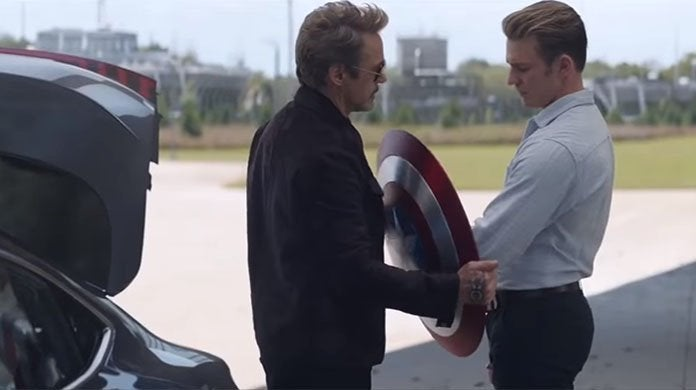avengers endgame captain america shield tony stark