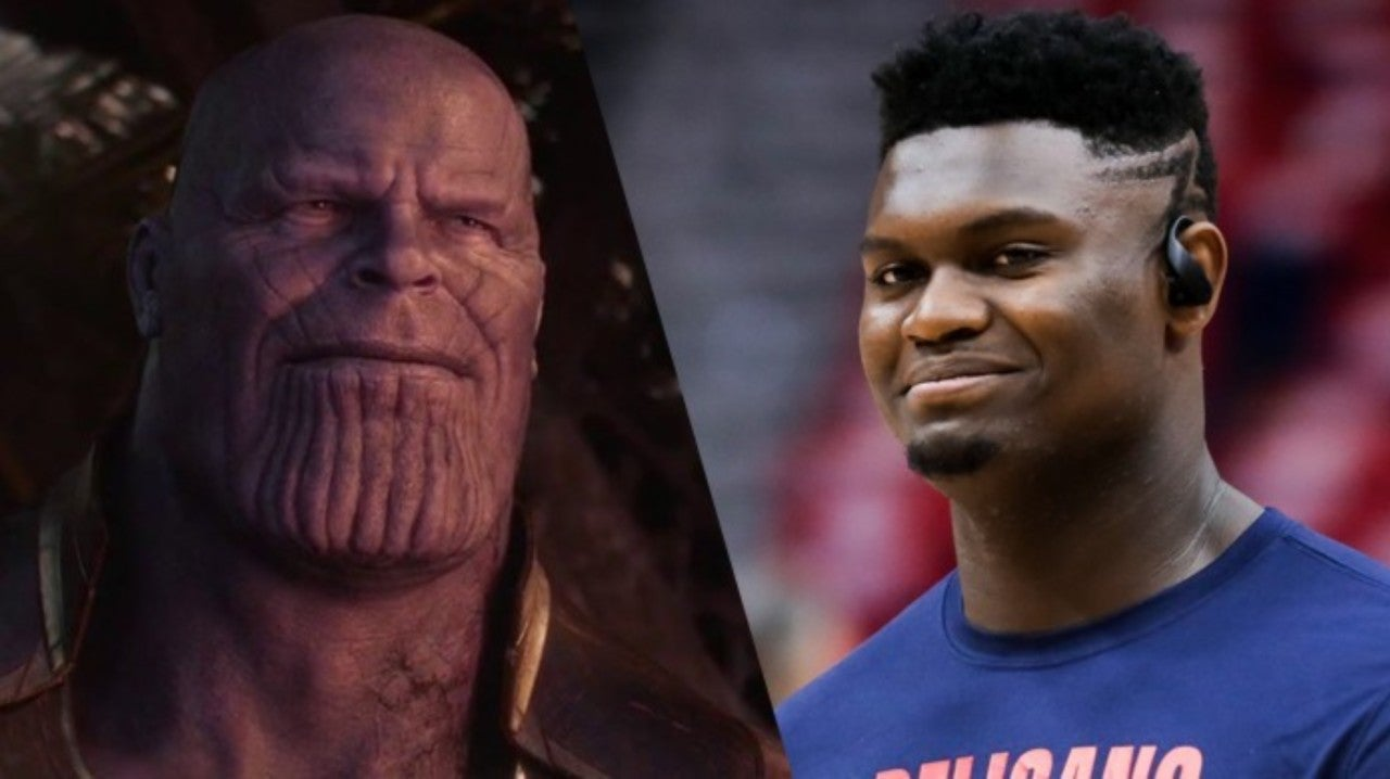 TNT Celebrates Zion Williamson's NBA Debut With Epic Thanos Crossover