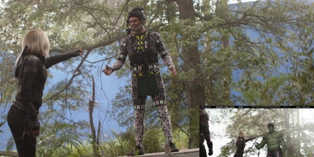 Avengers Inifinity War Smart Hulk Black Widow Deleted Scene