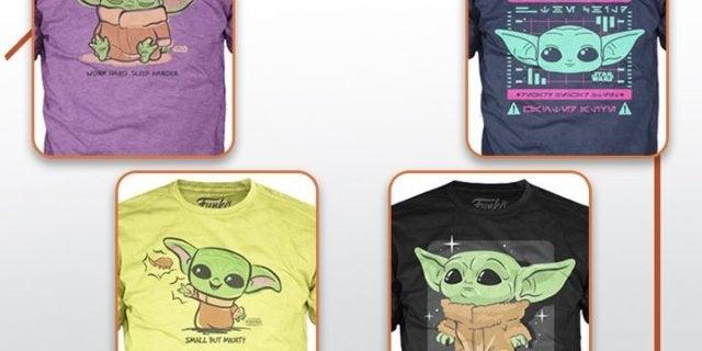 Baby Yoda Gets Some Very Cute Funko Shirts