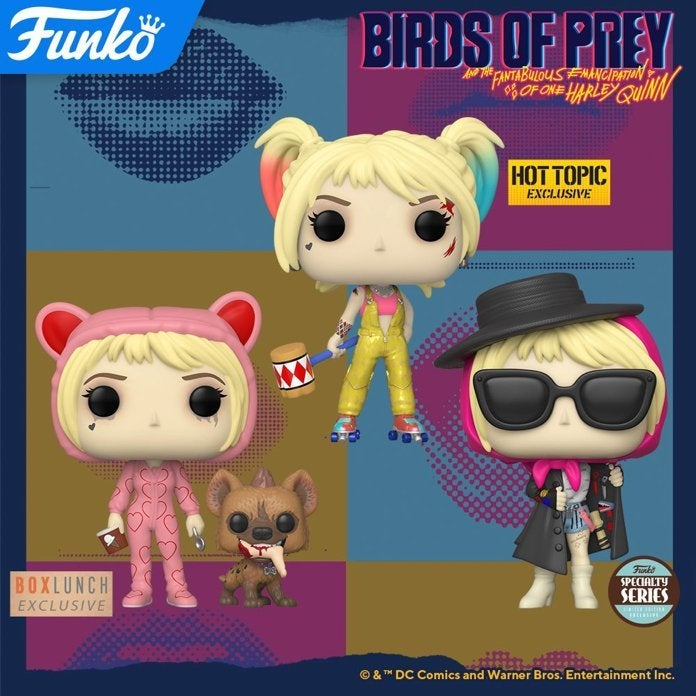 Funko Birds Of Prey Pops Launch With Collector Card Exclusives