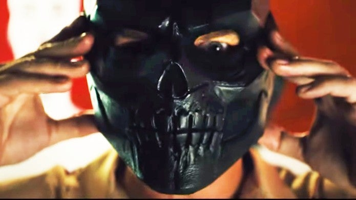 Birds of Prey Trailer 2 Ewan McGreGor Black Mask Costume Skull Mask