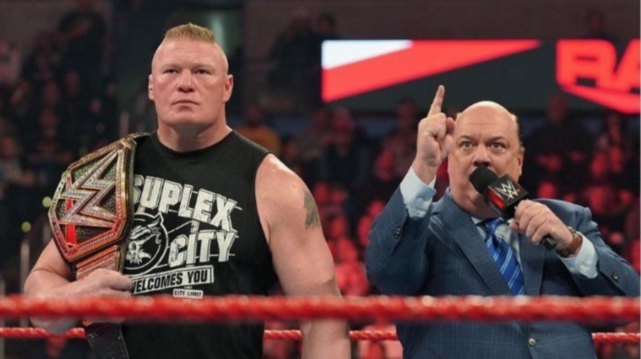 Brock Lesnar e Paul Heyman saíram do roteiro no último RAW