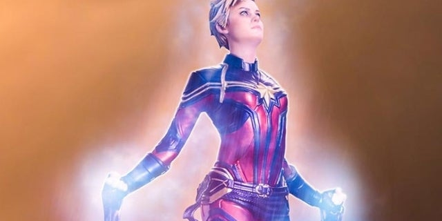 Captain Marvel Gets Gorgeous Iron Studios Avengers: Endgame Statue