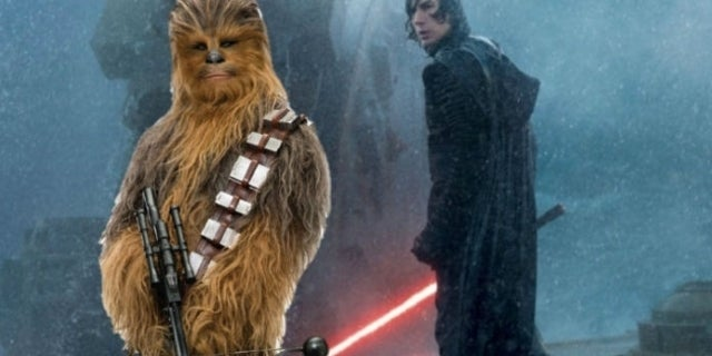 Star Wars: The Rise of Skywalker Concept Art Shows Kylo Ren Confronting Chewbacca