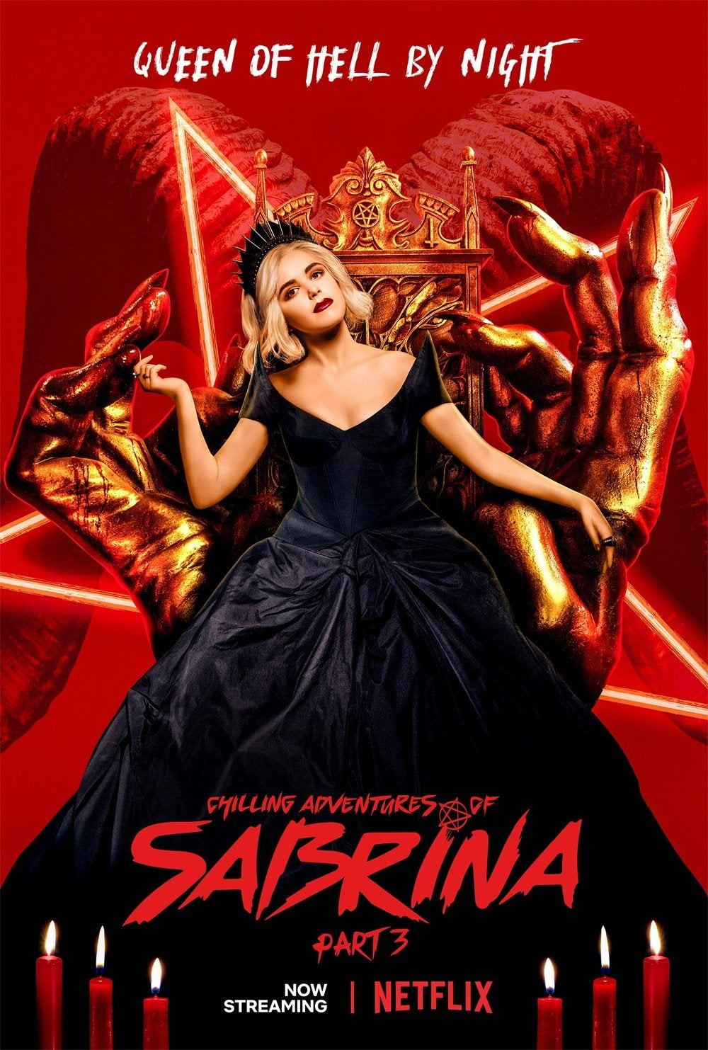 chilling adventures of sabrina celebrates part 3 release with new poster